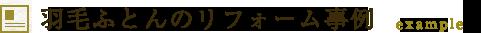 羽毛ふとんのリフォーム事例 example