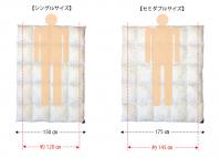 羽毛布団選びは、掛け心地だけでなく「サイズ感」も重要です!